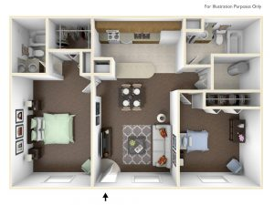 2 Bedroom 2 Bath No Dining